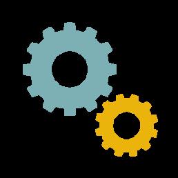 Disegno di ingranaggi che rappresentano la programmazione di siti